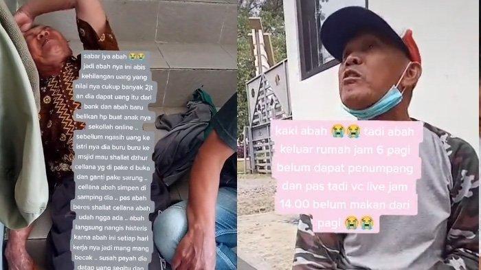 Viral Tukang Becak Menangis Uangnya Dicuri saat Salat, Atta Halilintar Langsung Beri Bantuan
