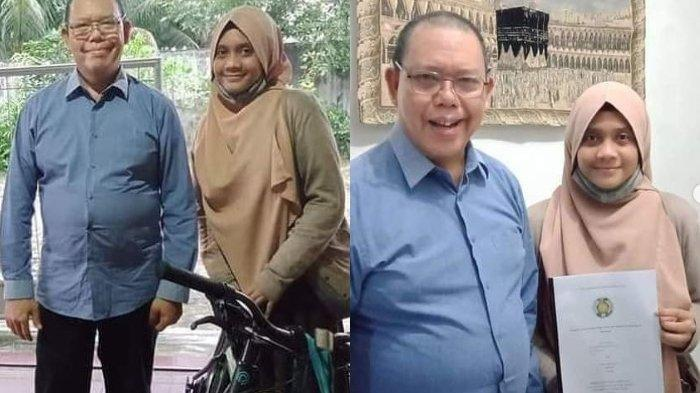Viral Perjuangan Mahasiswi Antar Tugas ke Rumah Dosen Menggunakan Sepeda Pinjaman Tetangga
