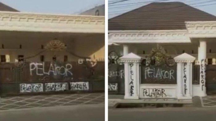 Viral Rumah Mewah di Palembang Dicoret dengan Tulisan Pelakor, Ketua RW Ungkap Sosok Pemilik Rumah