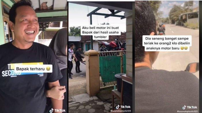 Viral di TikTok, Ayah Terharu Dibelikan Hadiah Motor oleh Anaknya: Langsung Dipakai Keliling