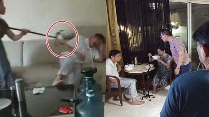 Viral Video Seorang Istri Tega Aniaya dan Maki Suami yang Idap Stroke