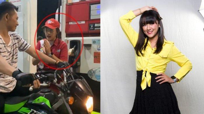 Viral Video Petugas Pom Bensin Cantik Layani Pembeli, Ternyata Penyanyi Dangdut Terkenal