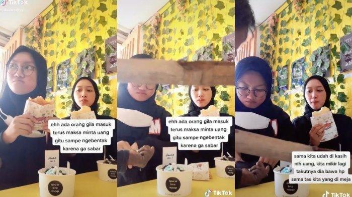 Viral 2 Remaja Didatangi ODGJ Sambil Bawa Kayu saat Bikin Video TikTok, Ternyata Begini Kejadiannya