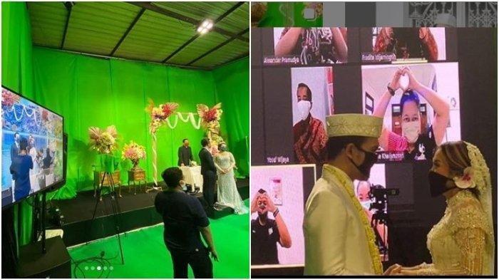 Viral Virtual Wedding di Yogyakarta, Pengantin Pakai Green Screen, Tamu Lihat Lewat Video Conference