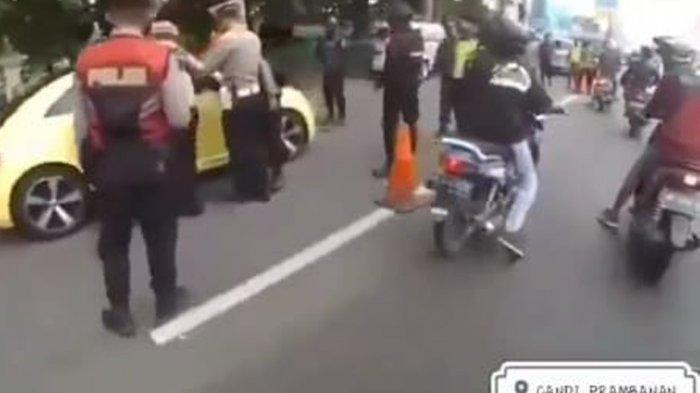 Pengendara Mobil VW Terobos Penyekatan & Tabrak Polisi di Prambanan Klaten, Kini Diperiksa Polisi