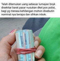 Warga Solo Temukan Gulungan Uang di Manahan, Berisi Uang Pecahan Rp50 dan 100 Ribu