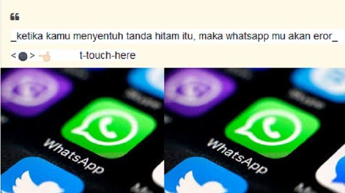 Beredar 'Tanda Hitam' di Percakapan WhatsApp, Apakah Benar Menyebakan Error? Simak Penjelasannya!
