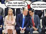meme-presiden-joko-widodo-mengobrol-dengan-presiden-as-donald-trump.jpg