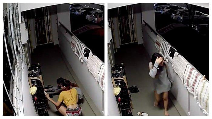2 Perempuan Ini Gagal Mencuri Sepatu di Sebuah Apartemen, Ternyata Terekam CCTV, Videonya Viral