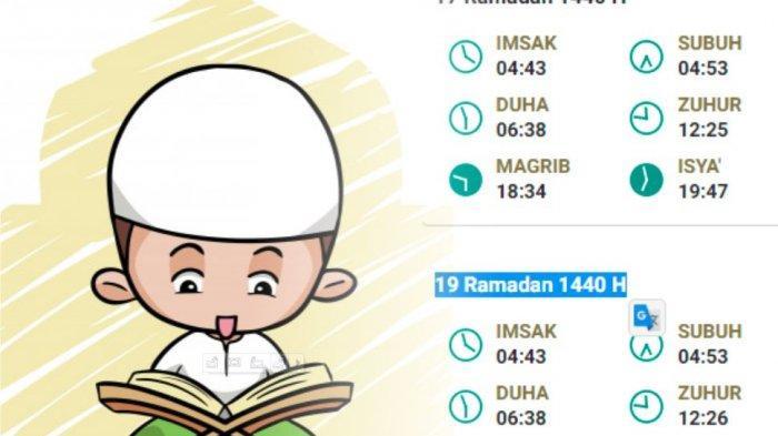 Jadwal Buka Puasa Hari Ini: Jumat 24 Mei 2019 atau 19 Ramadhan 1440 H Jakarta, Aceh, Bandung, Medan