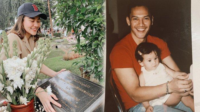 Pandangi Makam Ayahnya dengan Tersenyum, Aaliyah Massaid Kenang 8 Kali Ramadhan Tanpa Adjie Massaid