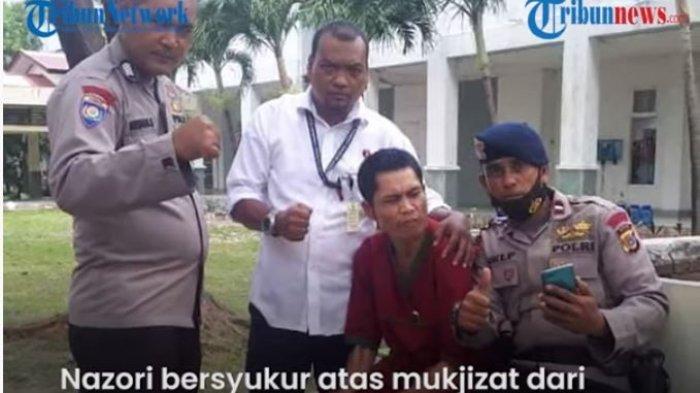 Abrip Asep saat dikunjungi rekan-rekannyadi RSJ