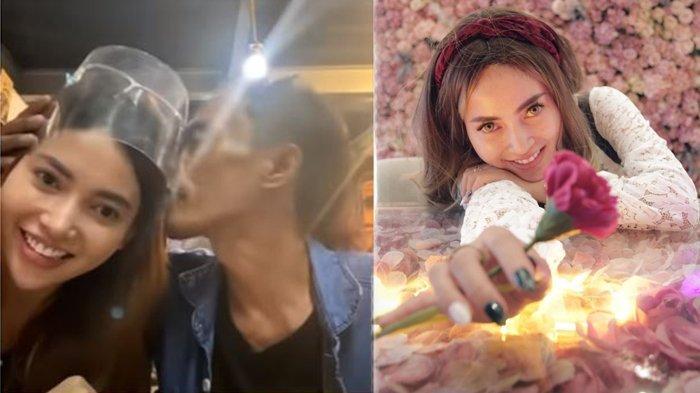 Ade Londok pamer cium mesra pacar barunya selebgram cantik Devina Ciputri