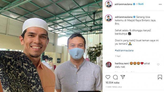 Adrian Maulana ketemu Nicholas Saputra di masjid