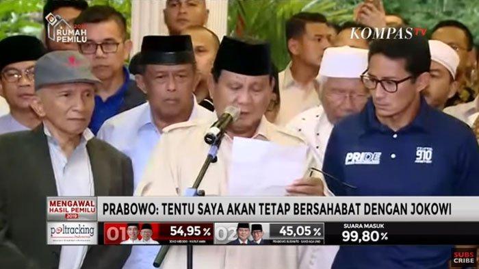 Ahli Bahasa Tubuh Baca Ekspresi Sandiaga Uno Saat Prabowo Deklarasi Kemenangan 'Sedih Marah & Takut'