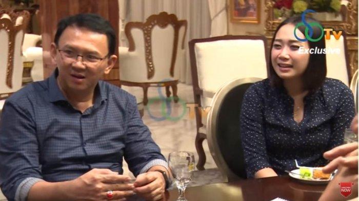 Ahok dan Puput Nastiti Devi saat berbincang dengan Ketua Partai Hanura, Oesman Sapta Odang (OSO) di channel YouTube-nya.