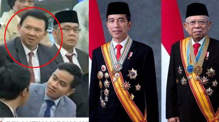 Hadiri Pelantikan Presiden-Wapres, Ahok Muncul Sendiri di Antara Anak-anak Jokowi, di Mana Puput?