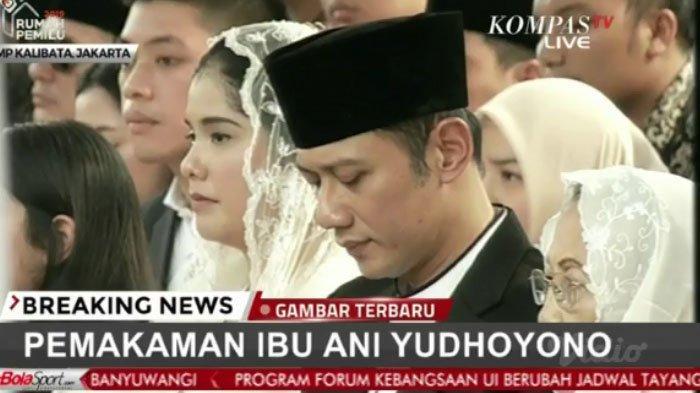 AHY di Pemakaman Ani Yudhoyono