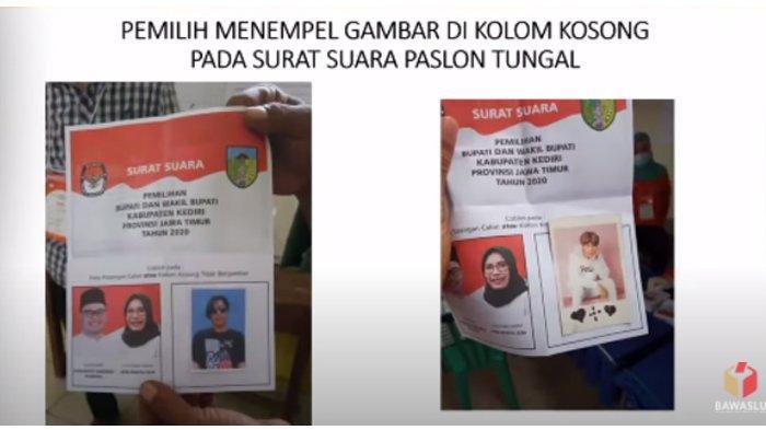 Aksi kocak Pilkada 2020 di Kabupaten Kediri.
