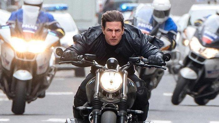 Aksi Tom Cruise dalam film Mission: Impossible - Fallout.