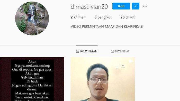 Akun Instagram baru terduga pelaku fetish mukena.