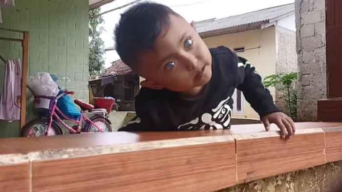 VIRAL Bocah Cilik Bermata Biru, Kata Ibunya Bisa Lihat Hal Tak Kasat Mata: Kalau Seram, Lari Pulang