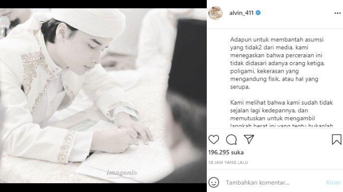 Alvin Faiz bantah perceraiannya dengan Larissa Chou karena isu orang ketiga dan KDRT