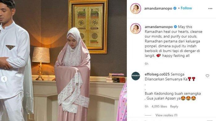 Amanda Manopo ucapkan selamat ramadhan.