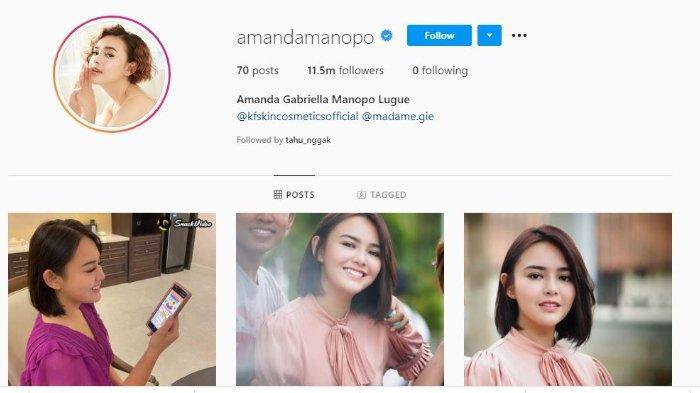 Amanda Manopo unfollow dan hapus potret dengan Billy Syahputra di Instagram.