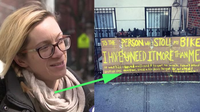 Sepedanya Dicuri, Wanita Tulis Pengumuman di Depan Rumah, tapi Kaget Saat 2 Pria Datangi Rumahnya