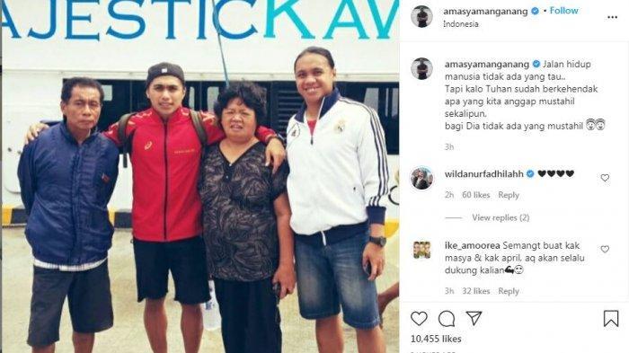 Respon Amasya Manganang (ig @amasyamanganang) terkait berita Aprilia Manganang