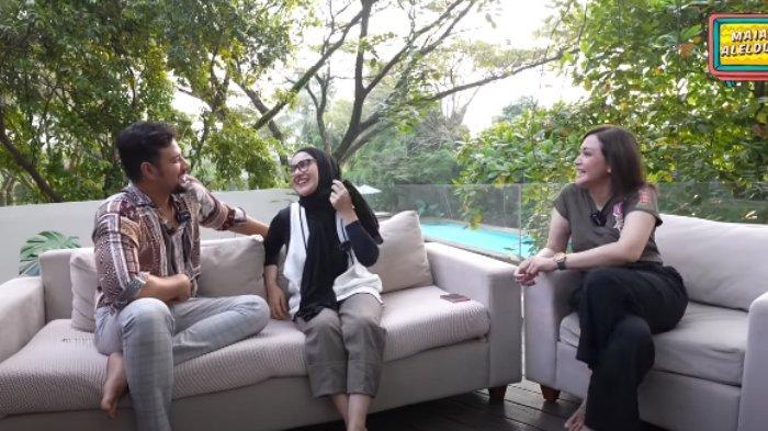 Ammar Zoni dan Irish Bella ngobrol dengan Maia Estianty