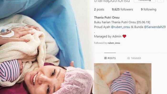Baru Lahir, Akun Instagram Milik Anak Kedua Ruben Onsu Sudah  Punya Lebih dari 9.000 Follower!