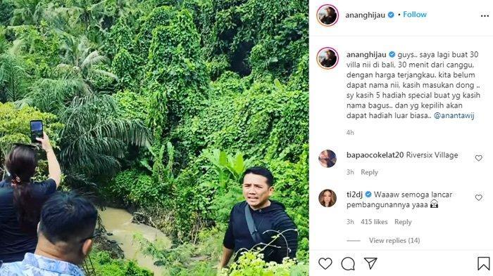 Anang Hermansyah meminta saran nama untuk Villa-nya nanti.