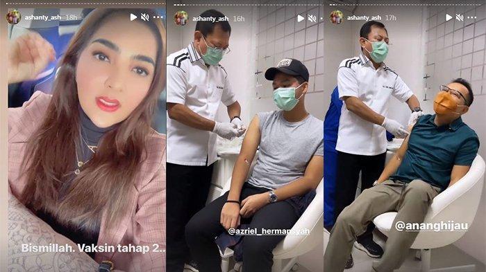 Anang ketakutan saat disuntik Vaksin Nusantara.