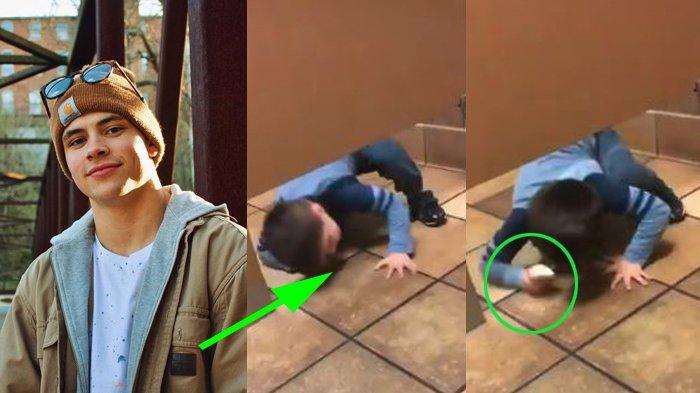 Cowok di Toilet Kaget Lihat Anak Kecil Muncul Merangkak dari Sela Pintu, Videonya Langsung Viral!