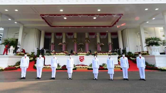 Profil Petugas Pengibar dan Penurun Sang Merah Putih pada Upacara HUT Ke-75 RI di Istana Merdeka