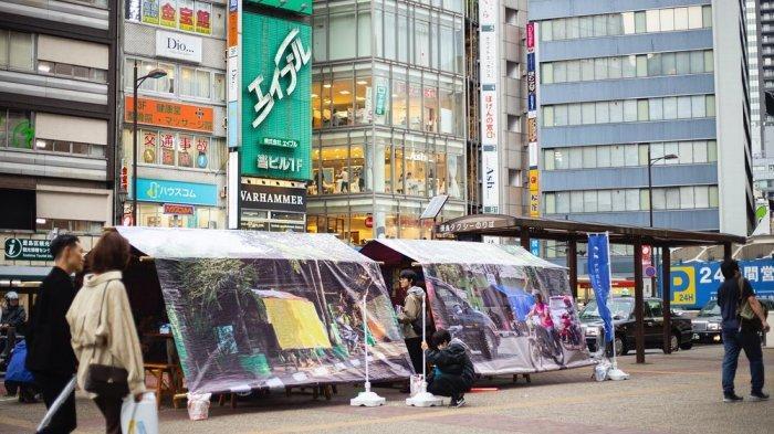 Bukan Foto Editan, Warung Angkringan ala Yogyakarta Muncul di Jepang, Seniman Ini Penggagasnya
