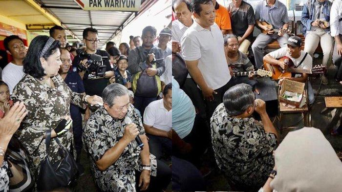 Intip Momen SBY Makan di Warung Bakso & Nyanyi Bareng Pengamen di Tengah Kerumunan