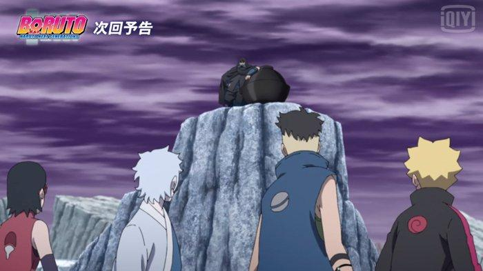 Anime Boruto episode 206, Tim Tujuh melawan Boro.