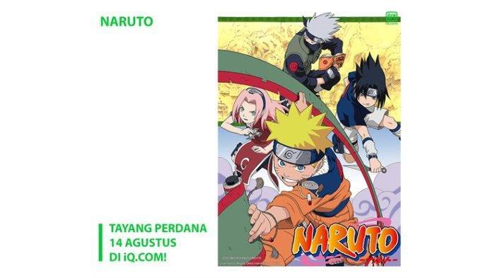 Anime Naruto bisa ditonton lewat platform iQIYI.