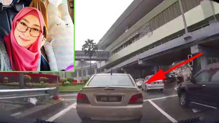 Cewek Naik Mobil Berhenti di Lampu Merah, Lihat Hal Janggal pada Mobil di Depannya, Semua Terekam!