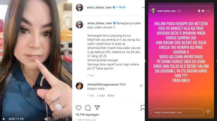 Annisa Bahar beri balasan untuk haters yang mencibirnya karena pakai baju ukuran S