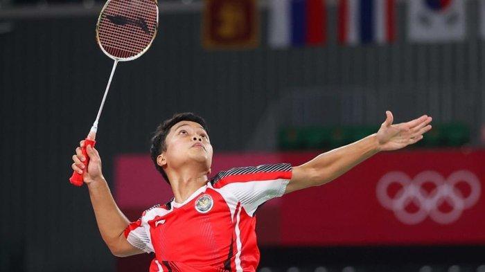 Anthony Sinisuka Ginting sukses raih medali perunggu di Olimpiade Tokyo 2020.