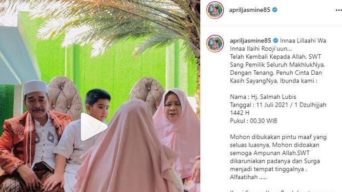 Innalillahi, Ibunda Ustaz Solmed Meninggal Dunia, April Jasmine Kenang Momen Bersama Sang Mertua