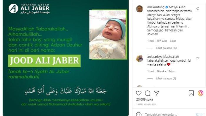 Arie Untung sampaikan doa untuk anak keempat Syekh Ali Jaber