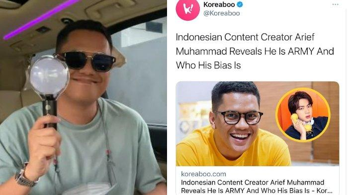 Heboh Arief Muhammad Masuk Media Korea Selatan Gegara BTS, Suami Tipang: ARMY Memang Luar Biasa