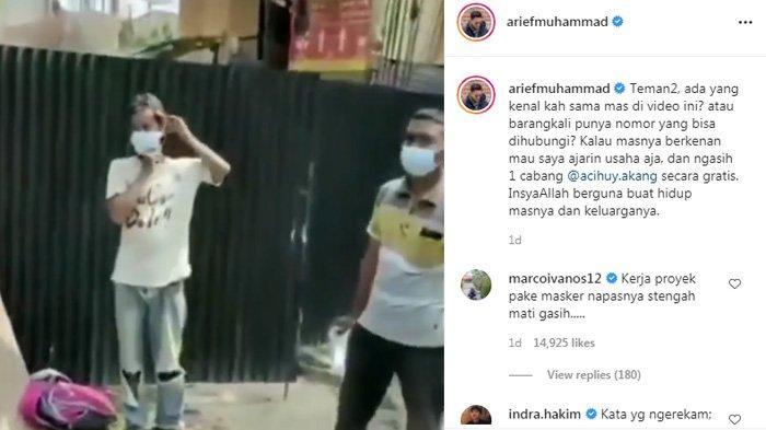 Arief Muhammad mencari pekerja bangunan yang dipecat.