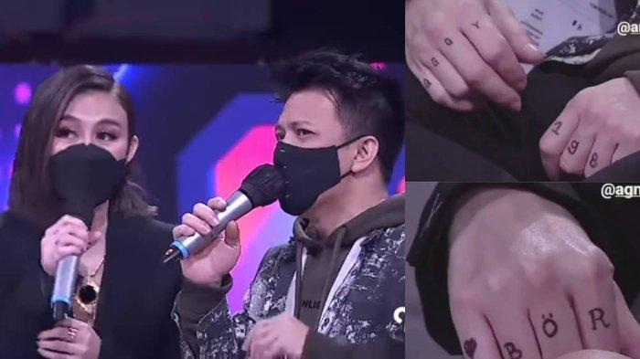 Agnez Mo Tulis Nama Kecilnya di Jari-jari Ariel NOAH, Sang Vokalis Ganti Tulis 'BOR' & Emoji Hati