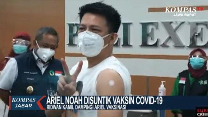 Ariel NOAH disuntik vaksin covid-19.